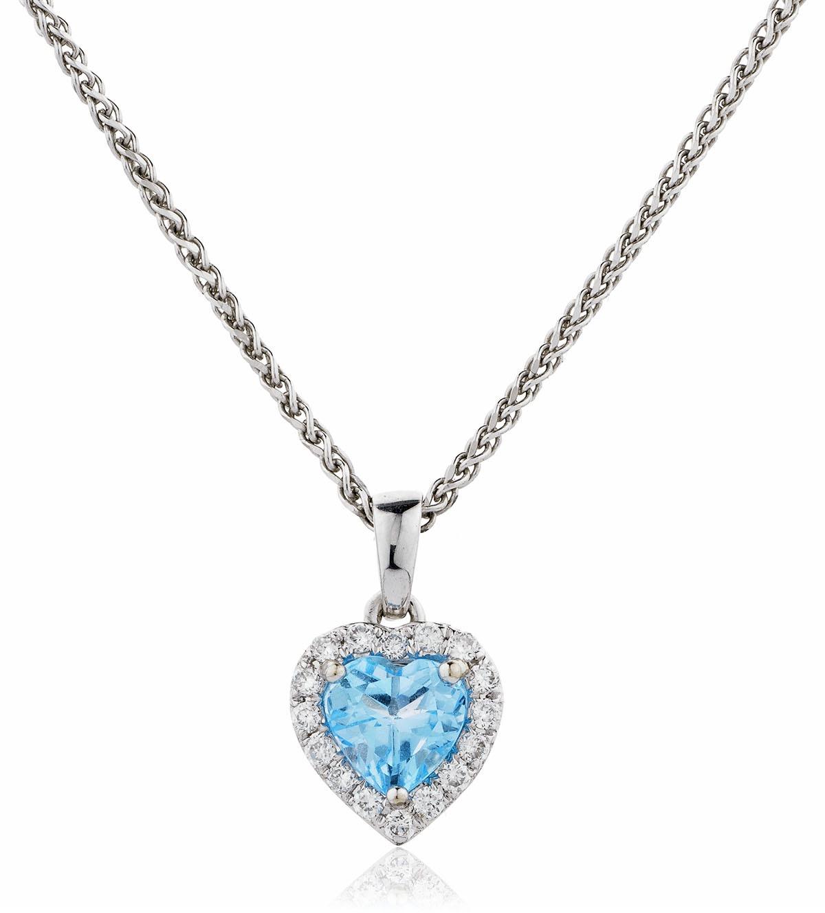Blue topaz diamond heart pendant valkin blue topaz diamond heart pendant mozeypictures Image collections